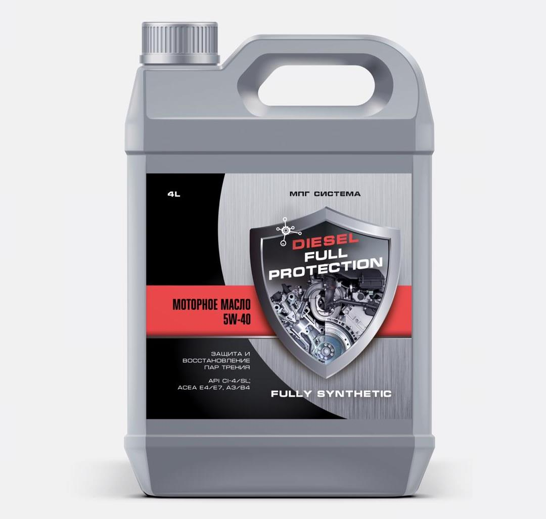 Моторное масло DIESEL FULL PROTECTION SAE 5W-40 Syntetic, 4л